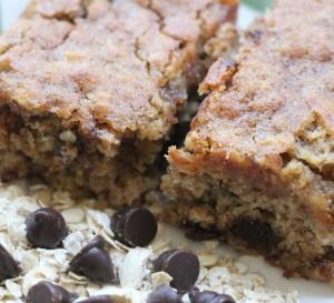 עוגת שיבולת שועל ופצפוצי שוקולד